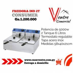 Freidora Eléctrica Industrial 2T Consumer