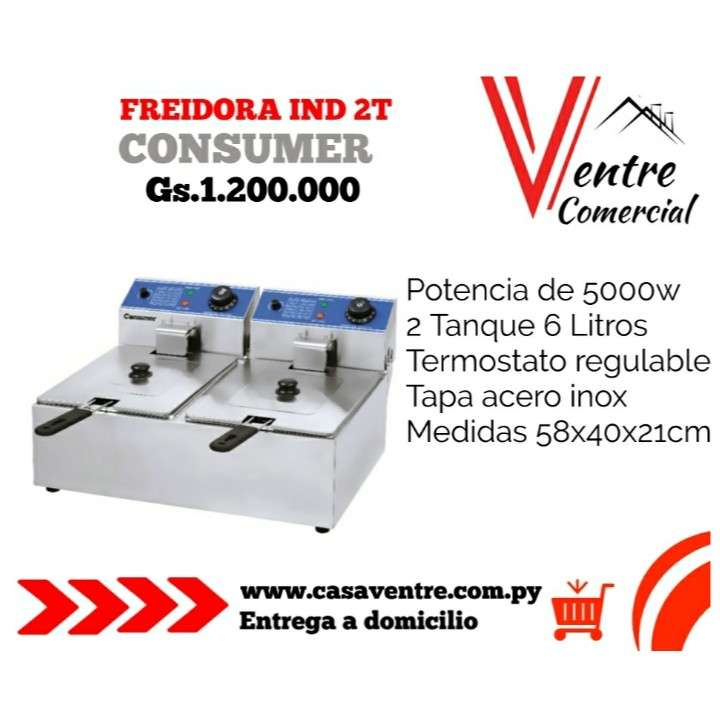 Freidora Eléctrica Industrial 2T Consumer - 0