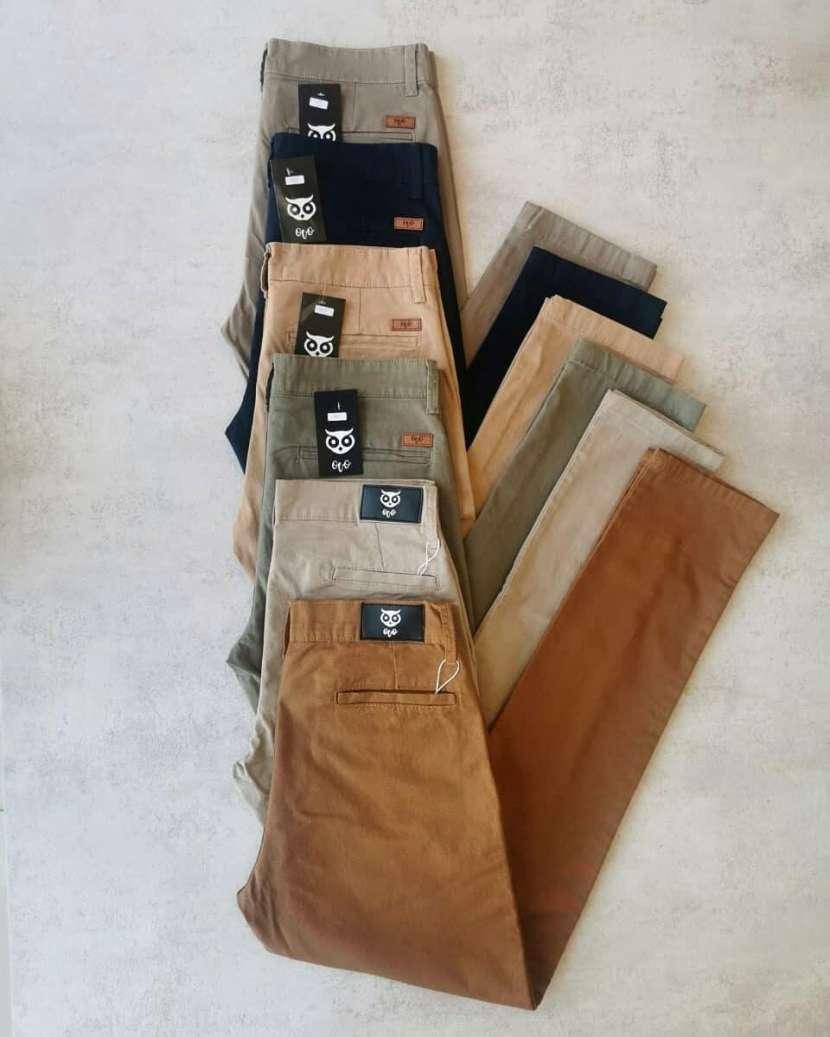 Pantalon corte chino - 0