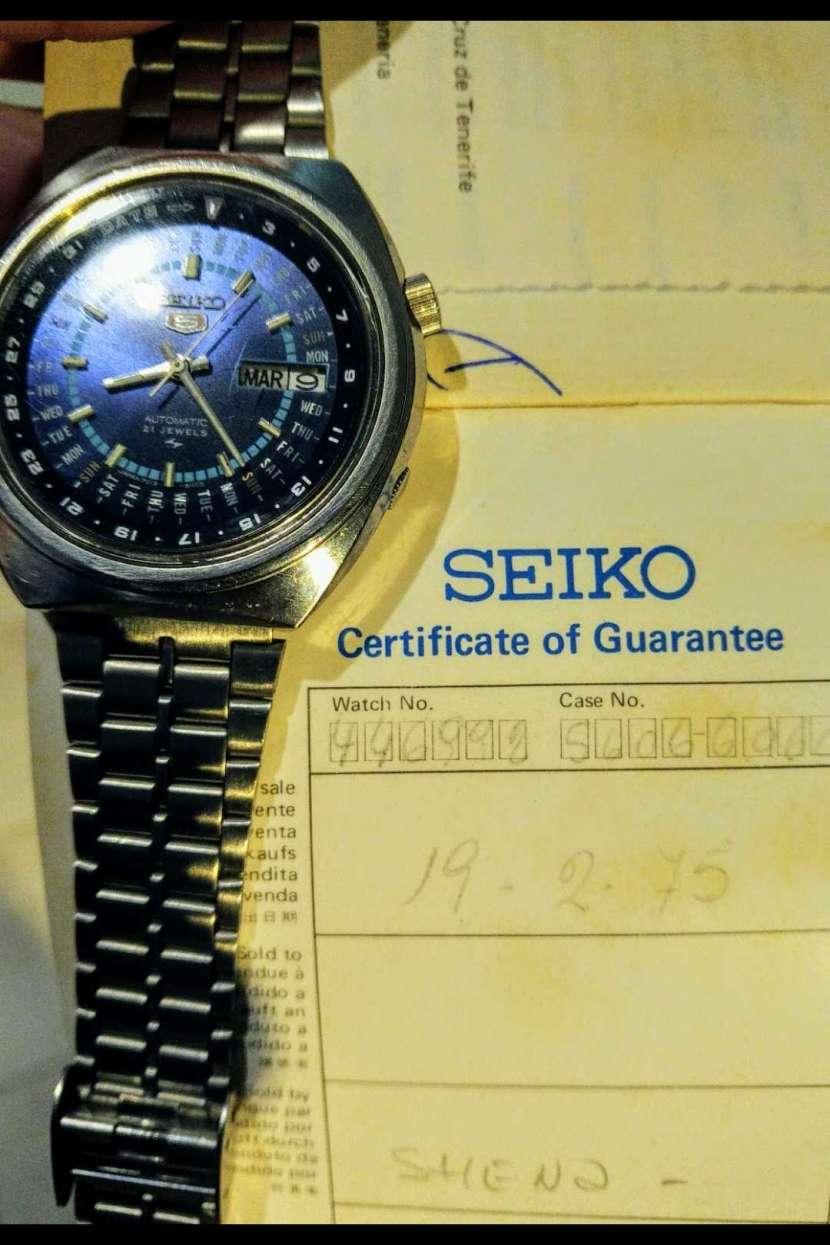Reloj Vintage Seiko 5 Perpetual Calendar Automatic 1974 - 6