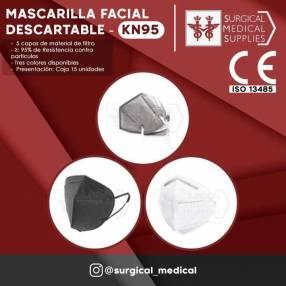 Mascarilla facial descartable KN95