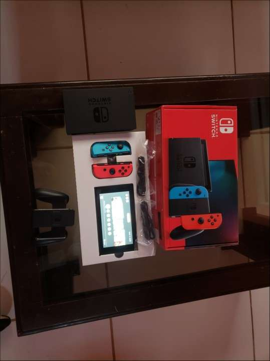Nintendo Switch batería extendida With Neon Blue And N - 2