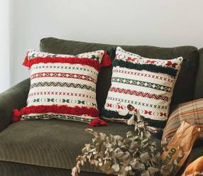 Almohada decorativa navideño colorido 45x45cm