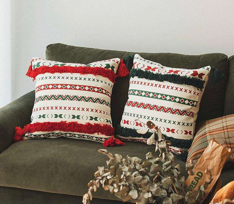 Almohada decorativa navideño colorido 45x45cm - 0