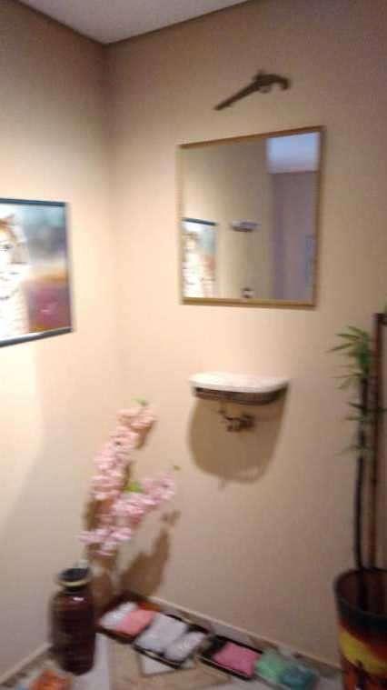 Consola de bronce y mármol con espejo - 2
