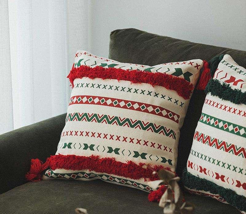 Almohada decorativa navideño colorido 45x45cm - 1