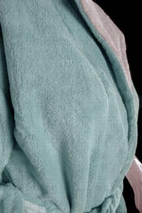 Salto de cama franela verde talle M