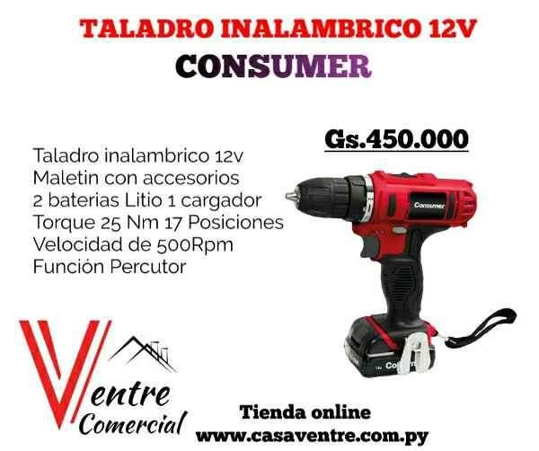 Taladro inalámbrico Percutor 12V Consumer - 0