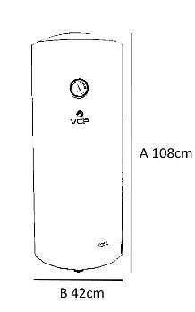 Termocalefón 100 litros vertical VCP - 1