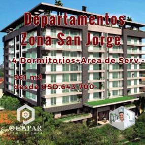 Departamento 4 dormitorios en pozo San Jorge Ycua Sati ex Altamira Parque