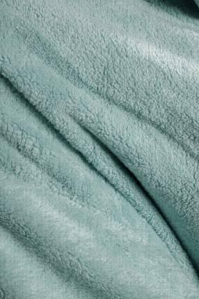 Salto de cama franela verde talle L 85x85cm