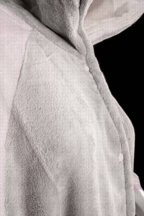 Salto de cama franela crema talle L 150x68cm