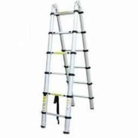 Escalera telescópica de aluminio 6 peldaños Alustep AT0412B