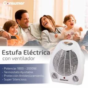 Estufa eléctrica con ventilador Consumer