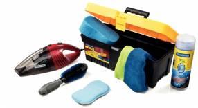 Kit de 8 piezas para limpieza de vehículos TA43800/992 c/ aspiradora de mano