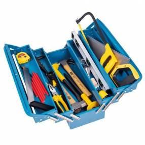Herramientas para constructor con caja de herramienta