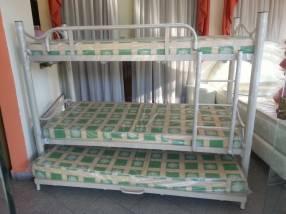 Cama doble con auxiliar 100x190 sin colchón