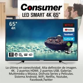 TV CONSUMER 65″ SMART 4k