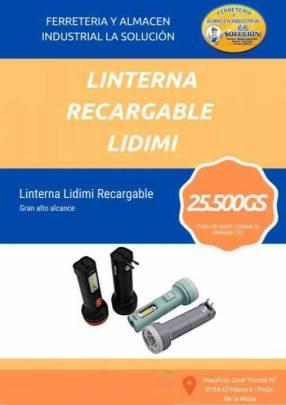 Linterna recargable Lidimi