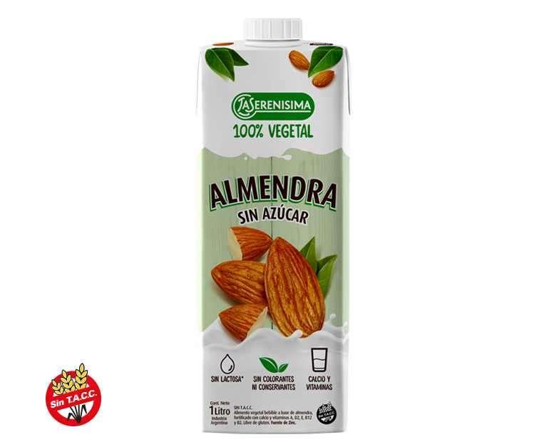 Leche de Almendra sin azucar 1lt - 0