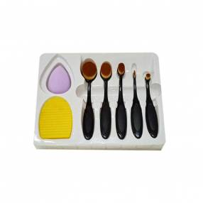 Kit de brochas + limpiador facial mac