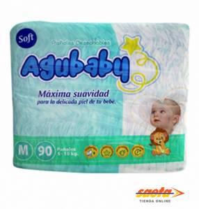 PAÑAL AGUBABY SOFT MEDIANO 90 UNIDADES.