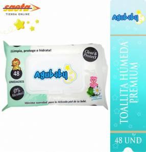 Toallitas agubaby premium con tapa abatible 48 unidades
