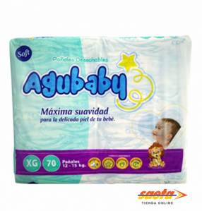 Pañal AguBaby soft extra grende 70 unidades
