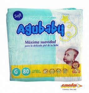 Pañal Agubaby Soft grande 80 unidades