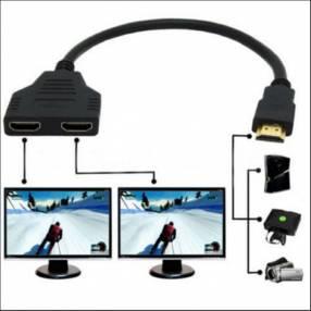 Cable divisor HDMI Cable 1 macho a Dual HDMI 2 hembra