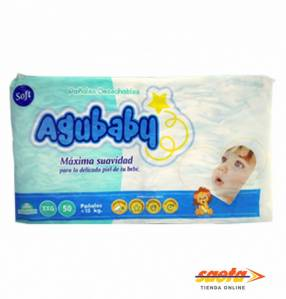 Pañal Agubaby Soft super EXG 50 unidades