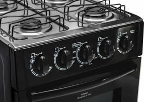 Cocina realce ares plus 4 hornallas negro re24