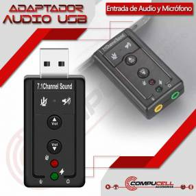 Adaptador USB audio y micrófono 7.1 tarjeta de sonido USB