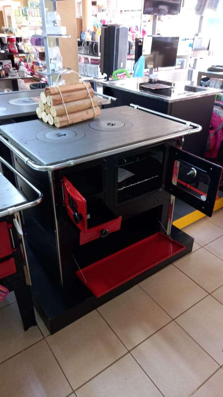 Cocina a leña rojo negro hidro supreme box nug - 0