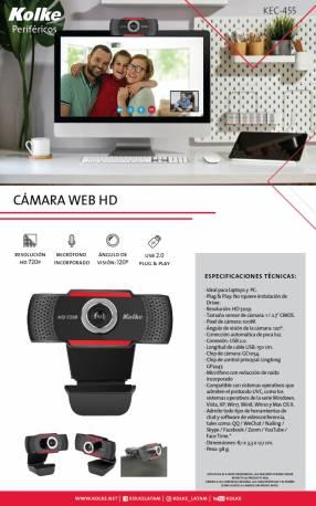Camara web kolke usb kec-455