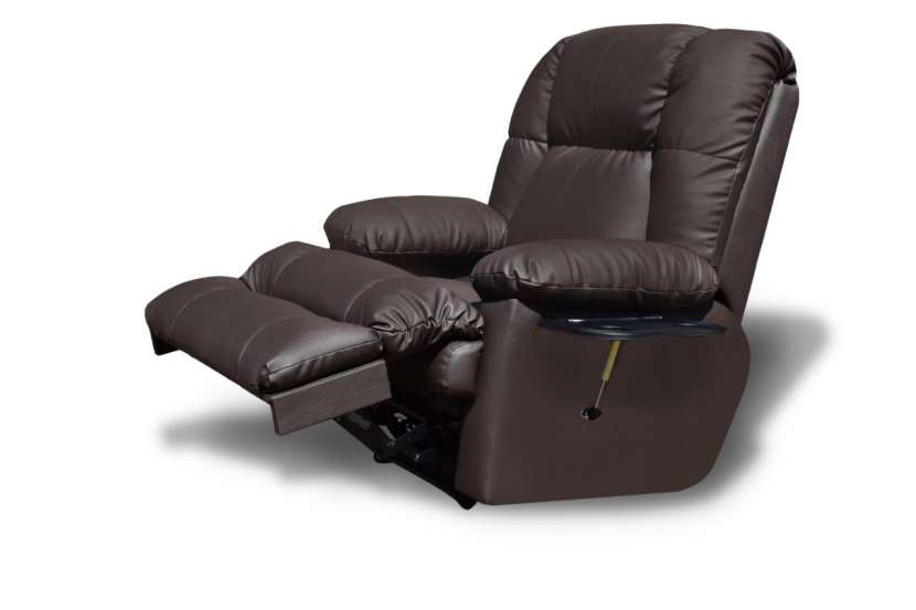 Sofa poltrona ecoleather marron - 1