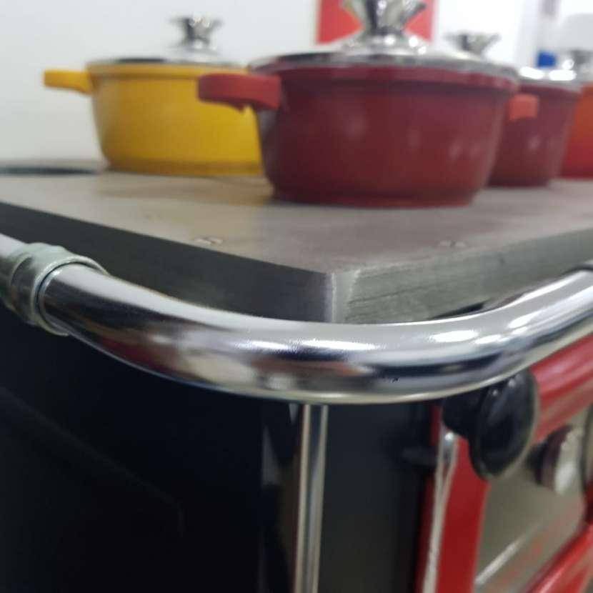 Cocina a leña rojo negro hidro supreme box nug - 12