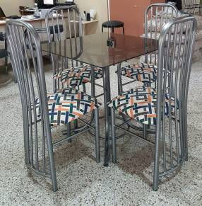 Juego de comedor stilo vidiro 4 sillas (3905)