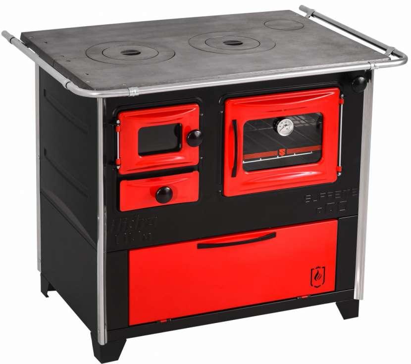 Cocina a leña rojo negro hidro supreme box nug - 14