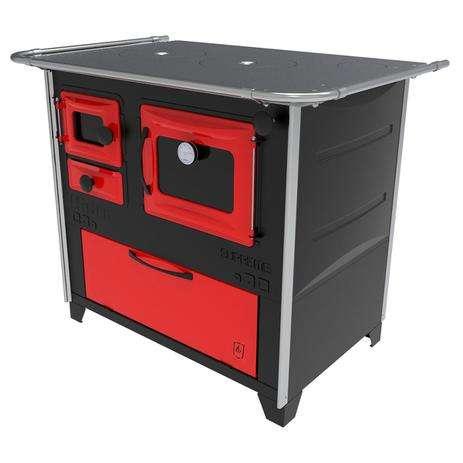 Cocina a leña rojo negro hidro supreme box nug - 6