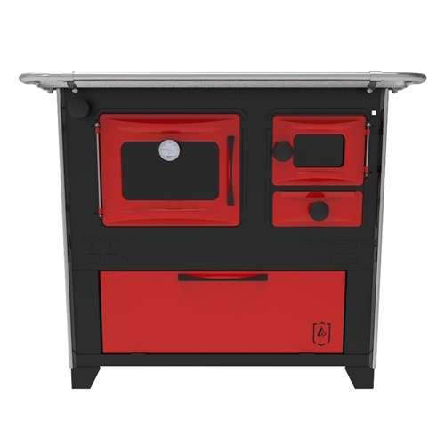 Cocina a leña rojo negro hidro supreme box nug - 8