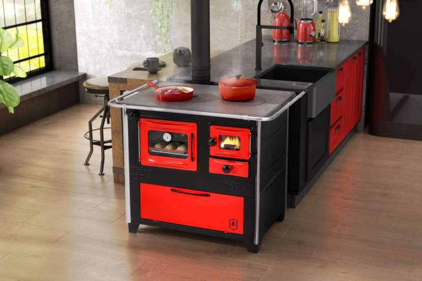 Cocina a leña rojo negro hidro supreme box nug - 13