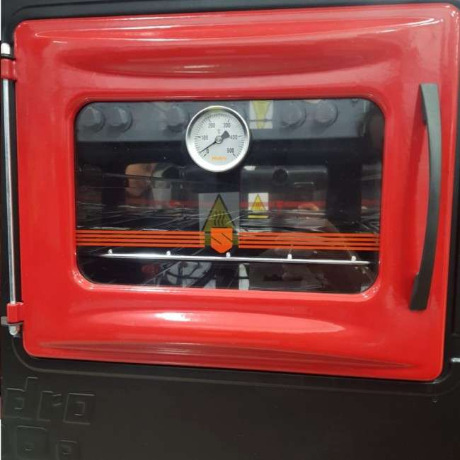 Cocina a leña rojo negro hidro supreme box nug - 3