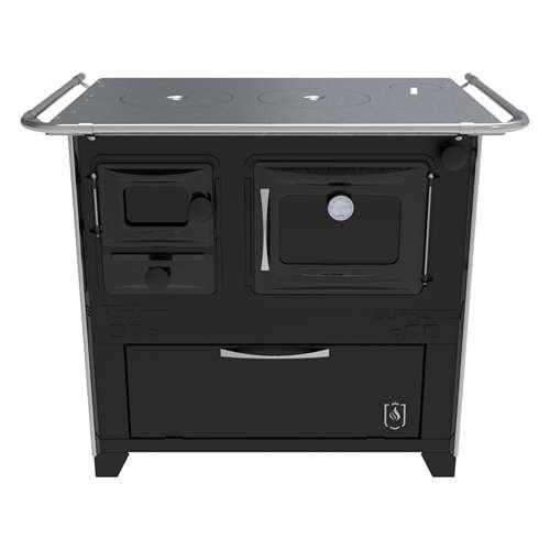 Cocina a leña negro hidro supreme box nug - 5