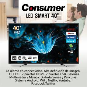 Tv consumer 40″ smart