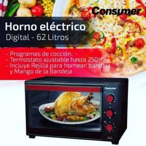 HORNO ELECTRICO 62 LITROS CONSUMER (1521)