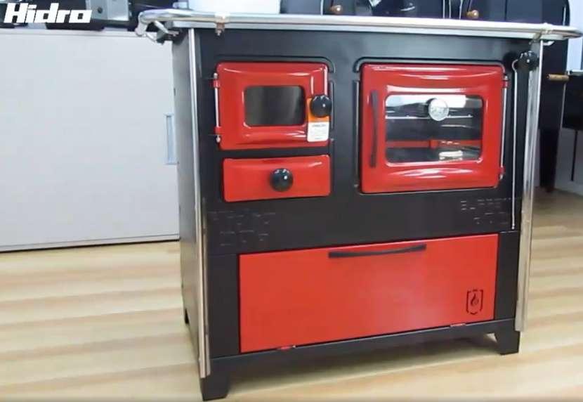 Cocina a leña rojo negro hidro supreme box nug - 11
