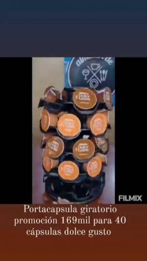 Porta cápsulas giratorios para 40 cápsulas
