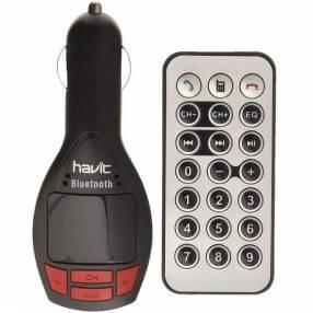 Transmisor para auto havit hv-fm50bt digital fm/aux/usb/mp3