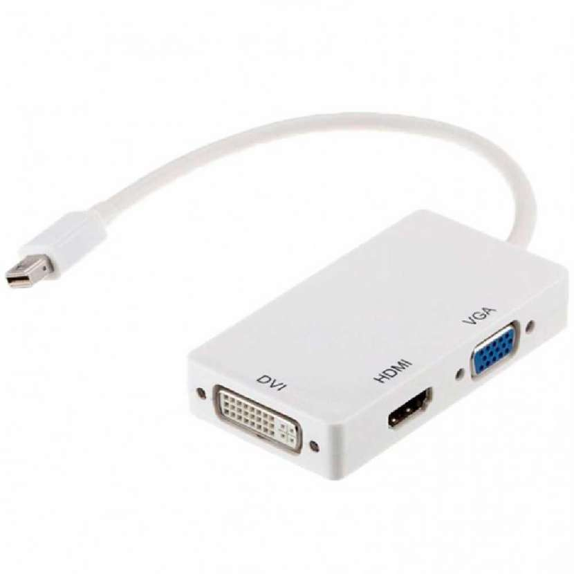 Adaptador mini display port p/ hdmi y vga universal - 0
